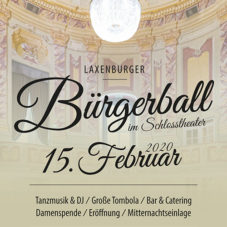 Unser Bürgerball 2020 – heuer erstmalig im Schlosstheater