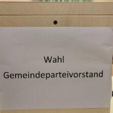 WAHL DES GEMEINDEPARTEIVORSTANDS